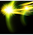 abstract green disco background vector image