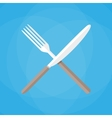 Knife and fork crossed icon vector image