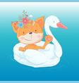 a greeting card or princess vector image