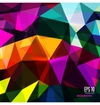 Abstract triangular background on bright colors vector image