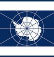 antarctic flag vector image vector image