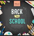 back to school concept design on black vector image