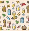 beer in beerhouse brewery beermug or vector image