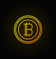 bitcoin golden linear icon crypto currency vector image vector image