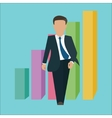 business man walking standing confident confidence vector image