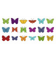 butterfly icon set color outline style vector image vector image
