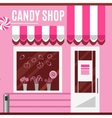 Candy shop in a pink color Flat design vector image vector image
