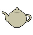 ceramic teapot or kettle icon image vector image vector image