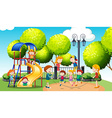 Children playing in the public park vector image