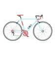 Classic town road bicycle detailed vector image vector image