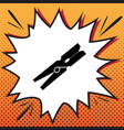 clothes peg sign comics style icon on pop vector image