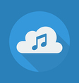 Cloud Computing Flat Icon Music vector image vector image