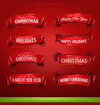 collection of christmas and new year banners vector image vector image