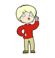 comic cartoon boy with idea vector image vector image