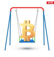concept of bitcoin fluctuation vector image vector image