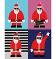 Cool Santa With Hipster Glasses Flat vector image