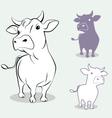 cow 3 vector image vector image