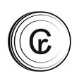 Cruzeiro icon simple style vector image vector image