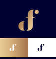 d and f monogram original gold symbol vector image vector image