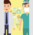 doctor and dentist medical profession specialist vector image