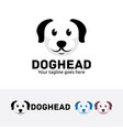 dog head logo design vector image vector image