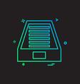 dropbox icon design vector image vector image
