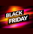 dynamic colorful black friday sign vector image