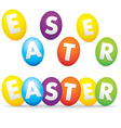 easter day with eggs vector image