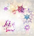 fairy winter snowflakes vector image vector image