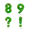 Fir tree font numbers vector image vector image
