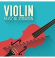 flat violin guitar background concept vector image vector image