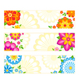 flower banners vector image vector image