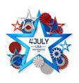 fourth july background vector image