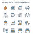 gas storage icon vector image vector image