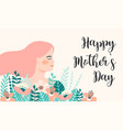 happy mothers day with woman vector image