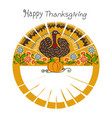 happy thanksgiving frame vector image vector image