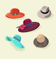 hats set fashion for men and women style vector image vector image