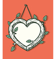 Heart wooden frame vector image vector image