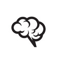 human brain - black icon on white background vector image vector image