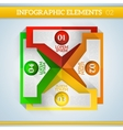 Infographic elements in flat colors vector image vector image