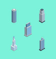 isometric skyscraper set of business center urban vector image vector image