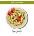 italian cuisine spaghetti pasta icon for vector image vector image