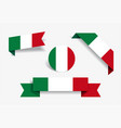 italian flag stickers and labels vector image