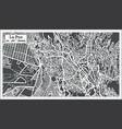 La paz bolivia city map in retro style vector image