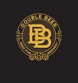 logo bb pub double b letter vector image