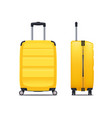 modern yellow plastic suitcase vector image vector image