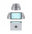 New portable gaming system with switching parts vector image vector image