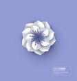 paper cut flower white color vector image