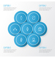 People outline icons set collection of user vector image