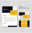 professional creative letterhead and business vector image vector image